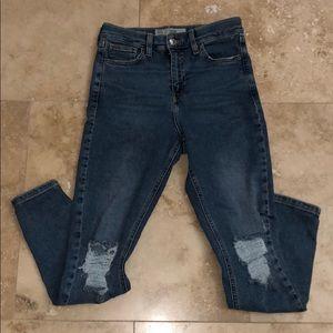 New Topshop Moto Jamie Ripped Skinny Jeans sz 26